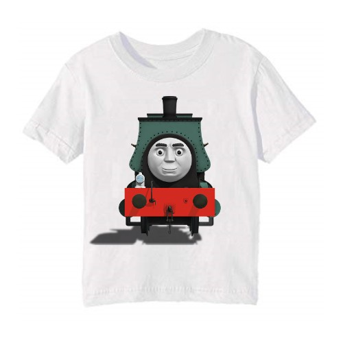 White angry train Kid's Printed T Shirt