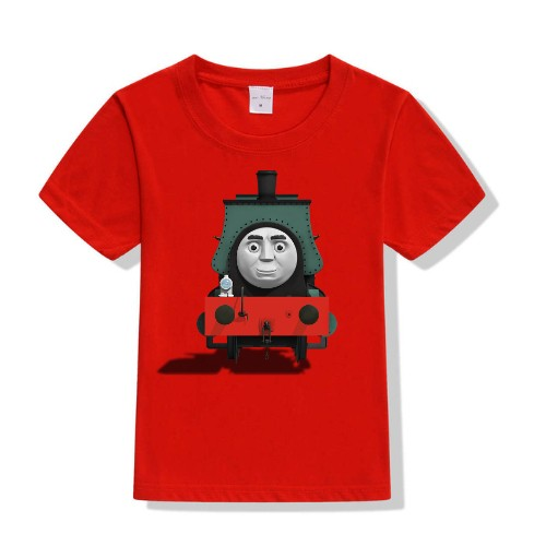 Red angry train Kid's Printed T Shirt