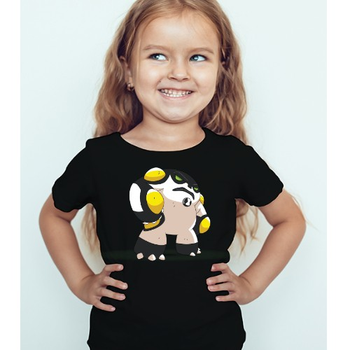 Black Girl boxing toy Kid's Printed T Shirt