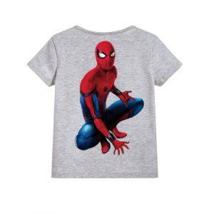 Grey sitting spider man Kid's Printed T Shirt