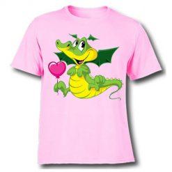 White china dragan in green Kid's Printed T Shirt