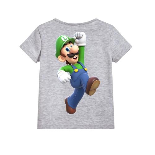 Grey Super Mario Kid's Printed T Shirt