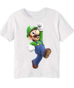 White Super Mario Kid's Printed T Shirt
