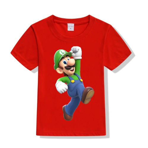 Red Super Mario Kid's Printed T Shirt