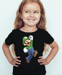 Black Girl Super Mario Kid's Printed T Shirt