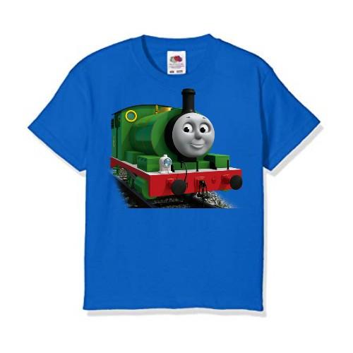 Blue Smiley Train Kid's Printed T Shirt