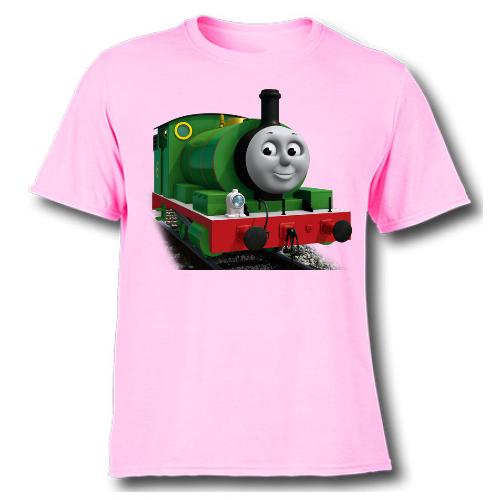 Pink Smiley Train Kid's Printed T Shirt