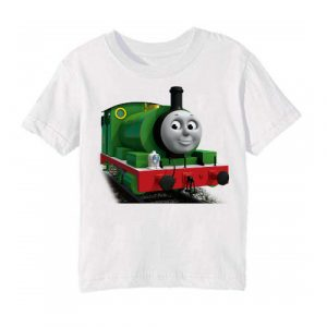 White Smiley Train Kid's Printed T Shirt