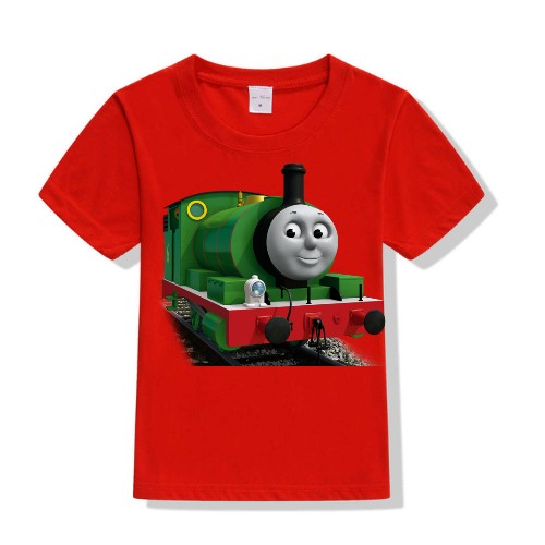 Red Smiley Train Kid's Printed T Shirt