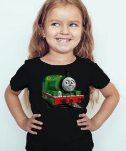 Black Girl Smiley Train Kid's Printed T Shirt
