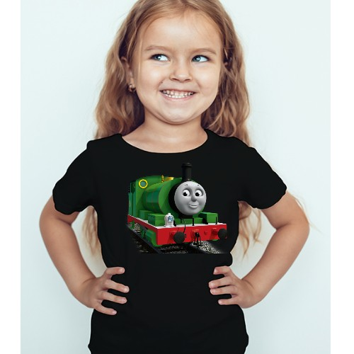 Black Girl Smiley Train Kid's Printed T Shirt