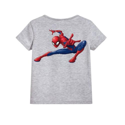 Grey Swinging Spider man Kid's Printed T Shirt