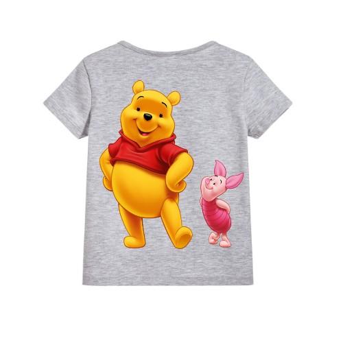 Grey Teddy & Rabbit Kid's Printed T Shirt