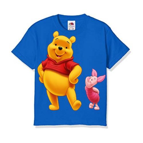 Blue Teddy & Rabbit Kid's Printed T Shirt