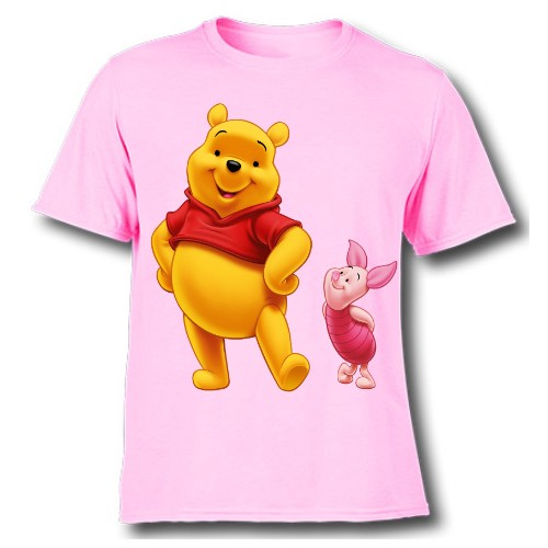 Pink Teddy & Rabbit Kid's Printed T Shirt