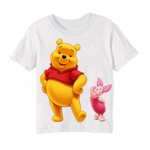 White Teddy & Rabbit Kid's Printed T Shirt