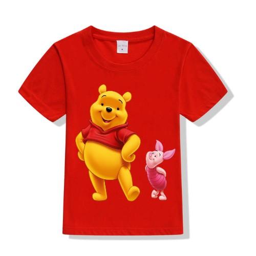 Red Teddy & Rabbit Kid's Printed T Shirt