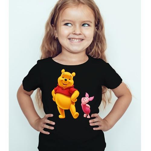 Black Girl Teddy & Rabbit Kid's Printed T Shirt