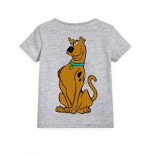 Grey Scooby doo Kid's Printed T Shirt