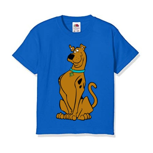 Blue Scooby doo Kid's Printed T Shirt