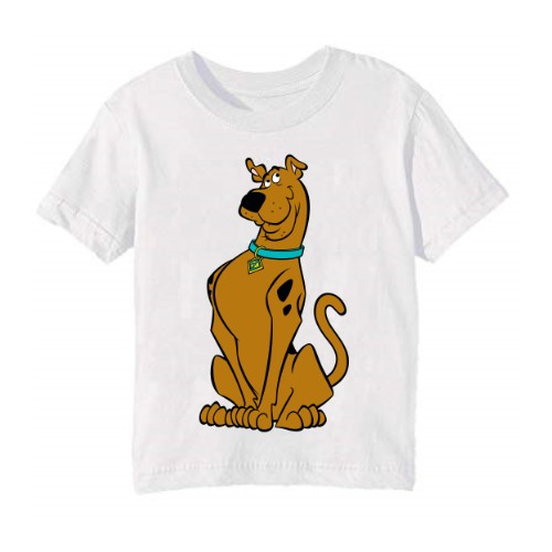 White Scooby doo Kid's Printed T Shirt