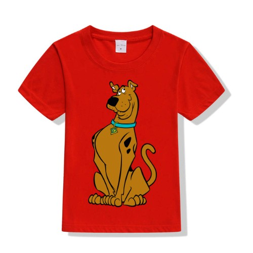 Red Scooby doo Kid's Printed T Shirt