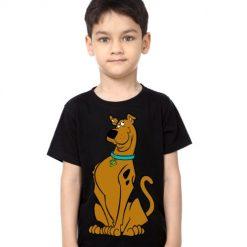 Black Boy Scooby doo Kid's Printed T Shirt