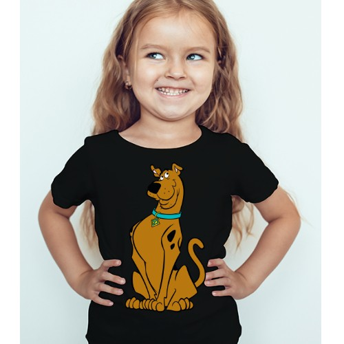 Black Girl Scooby doo Kid's Printed T Shirt