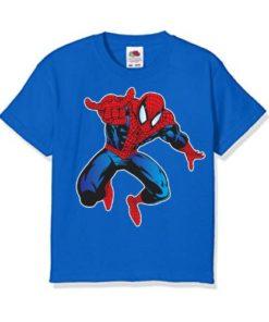 Blue Aiming Spider Man Kid's Printed T Shirt