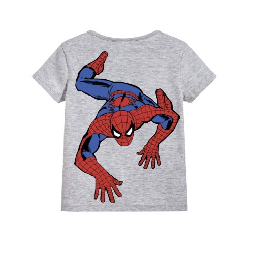 Grey Crawling Spider Man Kid's Printed T Shirt