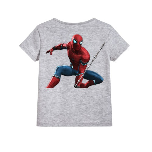 Grey Port Spiderman Kid's Printed T Shirt