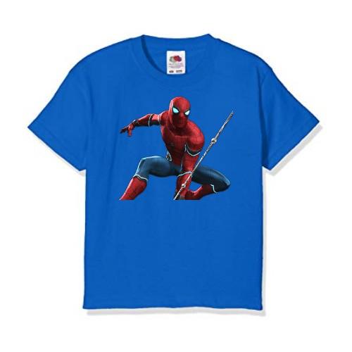 Blue Port Spiderman Kid's Printed T Shirt