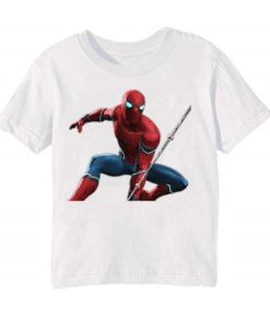 White Port Spiderman Kid's Printed T Shirt