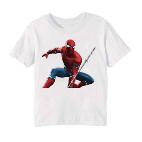 White Port Spiderman Kid's Printed T Shirt