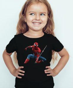 Black Girl Port Spiderman Kid's Printed T Shirt