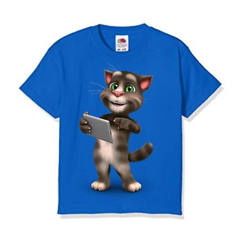 Blue Tablet talking tom Kid's Printed T Shirt
