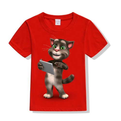 Red Tablet talking tom Kid's Printed T Shirt