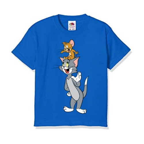 Blue Jerry on tom's head Kid's Printed T Shirt