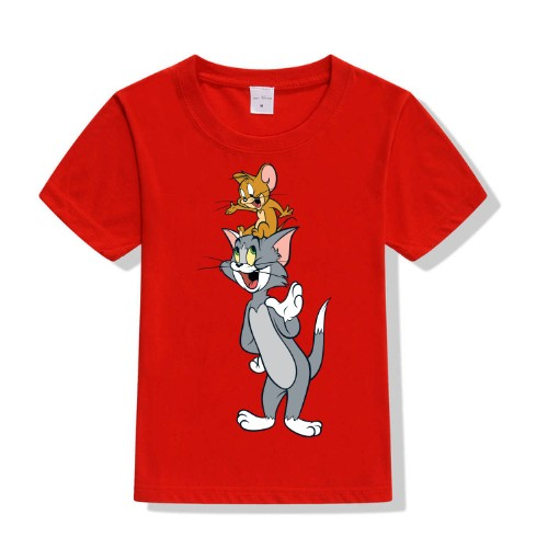 Red Jerry on tom's head Kid's Printed T Shirt