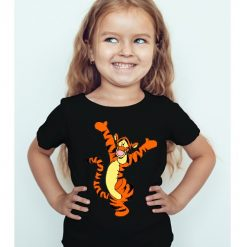Black Girl Dancing Tiger Kid's Printed T Shirt
