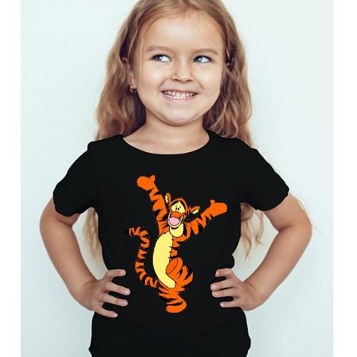 Black Girl Dancing Tiger Kid's Printed T Shirt