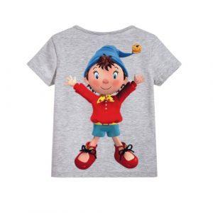 Grey Cartoon Kid's Printed T Shirt