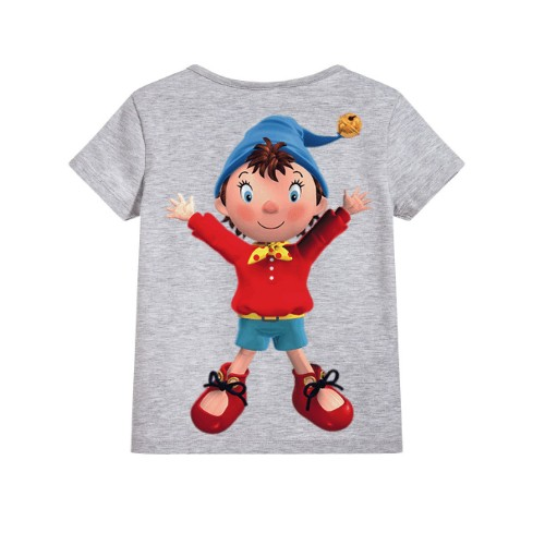 Grey Cartoon Kid's Printed T Shirt