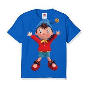 Blue Cartoon Kid's Printed T Shirt