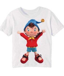 White Cartoon Kid's Printed T Shirt