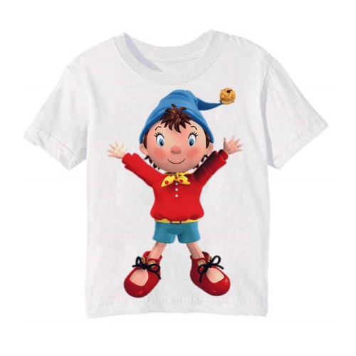 White Cartoon Kid's Printed T Shirt