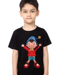 Black Boy Cartoon Kid's Printed T Shirt