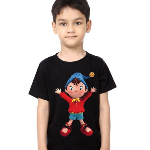 Black Boy Cartoon Kid's Printed T Shirt