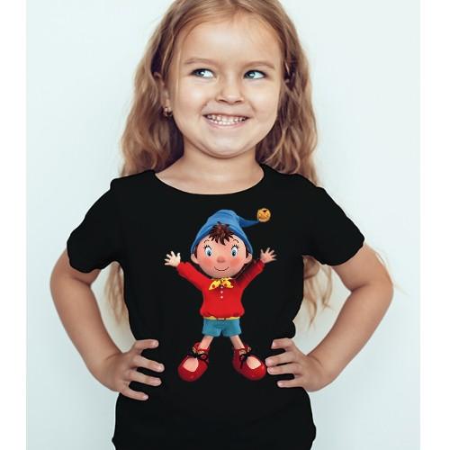Black Girl Cartoon Kid's Printed T Shirt