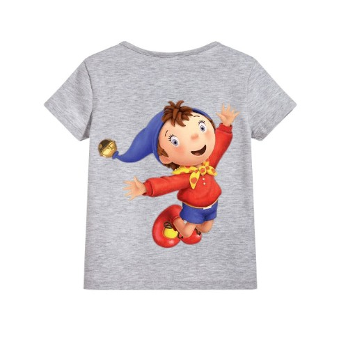 Grey Flying Cartoon Kid's Printed T Shirt